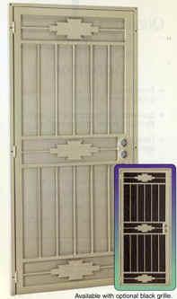 Dakota security screen door