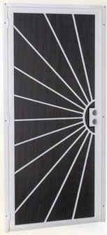 Sunburst security screen door