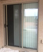Steel slider screen door